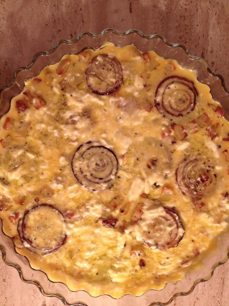 TORTA SALATA CON CIPOLLE DI TROPEA & PATATE